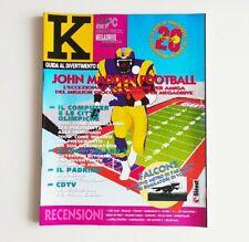 K guida al divertimento elettronico n°2 K36 febbraio 1992 rivista videogiochi