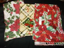 CHRISTMAS THEME MATERIAL (HOLLY PATTERNS) 1-30 IN 2-1YD 3- 2YDS TOTAL (3YDS 30 I