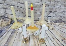 Lot of 6 Plastic Christmas Window Candles Drip Candles
