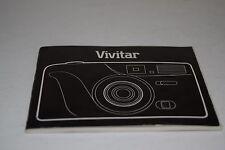 Vivitar 1990 35mm Camera Instruction Manual