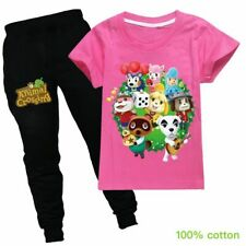 NEW Animal Crossing Girl Kid Cotton 100% Short Sleeve T-shirt Top Pant Suit Gift