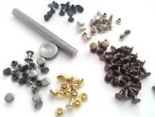 Leather Rivet DIY Kit Setup tool's & 250 Double Cap Rivets 6 mm  #HDC0/K22