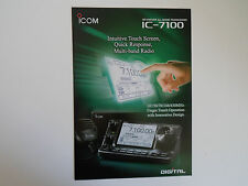 ICOM-7100 (GENUINE BROCHURE ONLY)..........RADIO_TRADER_IRELAND.
