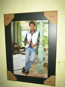 Cliff Richard Excellent Signed Photograph (8x12) Framed With CoA