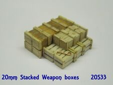 Anyscale Models 20mm Ammo / Weapons Boxes Stacked
