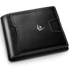 Portafoglio Uomo RFID Blocking con cartoline e borsaTrifold Slim Portafogli i...