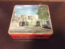 British Colonies Fancy Tin Filled With Royalty Stamps, Covers,Postcards, Lot