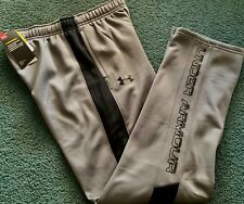 Under Armour Boys L Gray/black Cold Gear Storm Loose Fit Pants YLG