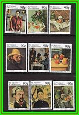 ST.VINCENT = PAINTINGS: CEZANNE MNH FOOD, PLAYING CARDS