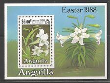 Anguilla #758 (A97) S/S VF MNH - 1988 $6.00 Lilium Longiflorum / Lily / Flower