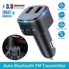 Wireless Bluetooth 5.0 FM Transmitter QC3.0 Radio AUX Adapter Car Kits Colorful