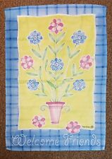"""Welcome Friends Large House Flag - 27"""" x 39"""" - Country Style Summer Sale"""