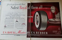 1948 US Royal Master Rubber Car Two Page Tires Original Ad