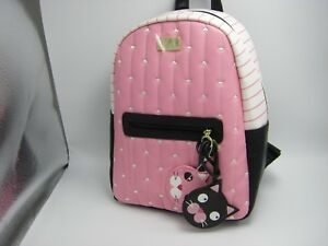 LUV BETSEY by BETSEY JOHNSON LB DANA Backpack Hearts + 2 Cat Bag Charms