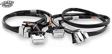 "Handlebar Wiring kit (+12"") for Harley Chrome Switches 48"" Wiring Harness 96-06"