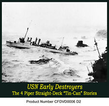 Early-Navy Destroyer Films 4 pipers DE DD Tin Cans WW2