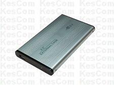 "6,4cm 2,5"" ALU Metallgehäuse USB 2.0 IDE HDD Case in Silber"