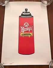 Wendy's Spray Can print by DEATH NYC Ltd Ed Pop Art like Brainwash Warhol Obey