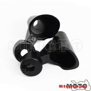 Black Pair Front Turn Signal Relocation Swivel Kit Fit Harley 2010-15 XL1200X