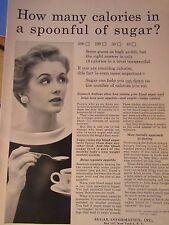 "1955 Original Sugar Print Ad How Many Calories ? -8.5 x 10.5 ""- Sugar Diet"