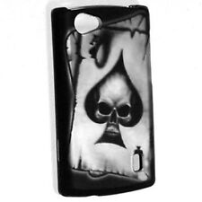 For LG Optimus M+ MS695 Rubberized HARD Protector Case Phone Cover Spade Skull