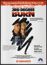3rd DEGREE BURN__Orig. 1989 Trade AD movie promo__VIRGINIA MADSEN_TREAT WILLIAMS