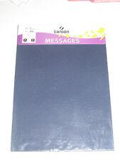 Set de 5 Feuilles de Papier Canson A4 120 g Bleu Indigo NEUF