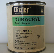 PPG Acrylic Lacquer Ditzler light waxberry poly code 36 GM pint paint 3315