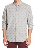 DKNY Mens Shirt Castlerock Gray Size XL Button Down Classic Medallion $79 405