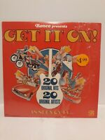 Ronco Presents Get It On 20 Original Hits 20 Original Artists LP In Shrink HYPE