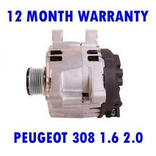 PEUGEOT 308 1.6 2.0 2009 2010 2011 2012 - 2015 REMANUFACTURED ALTERNATOR