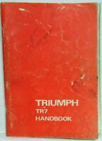 1977 Triumph TR7 Owners Manual Handbook with Wiring Diagram