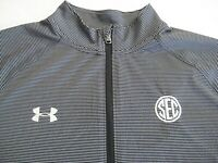 SEC Conf. UNDER ARMOUR LOOSE heatgear Pullover Top 1/3 Zip- Gray- XL- Mint Cond