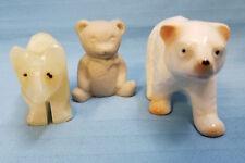 Bear Figurines Statues Miniatures White Polar Lot of 3