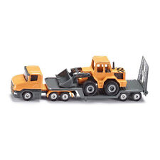 Siku 1616 Scania Low loader with front loader melon yellow (Blister pack) new! °