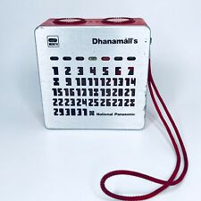 More details for national panasonic panapet date month radio red vintage retro  calendar r-88