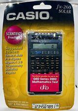 Casio fx-260 Solar Scientific Fraction Calculator Black New SEALED