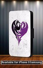 Descendants Disney Mal's Dragon Heart Faux Leather Flip Phone Case Cover Y219