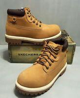 Skechers Men's Sergeants Verdict Waterproof Leather Boots SIZES NIB Wheat