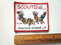 Vintage Boy Scout Scouting.... One Hour A Week...!? Patch D7-10