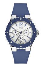 GUESS w90084l3 Overdrive Reloj de mujer correa de silicona azul marino