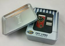 #G# 2005  Fossil Cuff Links with Money Clip Set, Rare Set, New Old Stock