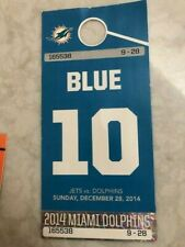Miami Dolphins VS. New York Jets Blue Parking Permit - Sun Life Stadium