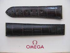 NUOVO Omega Planet Ocean 22 mm Marrone Scuro Cinturino in Coccodrillo Distribuzione NO. 98000109