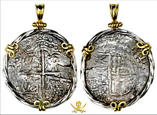 ATOCHA SHIPWRECK 1622 GRADE 1  PIRATE GOLD COINS REALES NECKLACE JEWELRY PENDANT