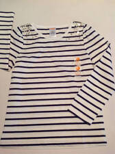 NWT Gymboree Flight of Fancy long sleeved navy/white striped top sz 5