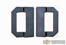 "DIY Kydex Holster OWB Offset Pancake Wings, 1.5"" Belts, Black, 2 Pack"