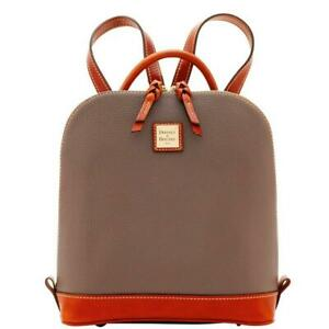 Dooney & Bourke Pebble Grain Zip Pod Backpack  Elephant NWT