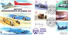 CC59 RAF aircraft + Bluebird Car & Boat 1998 Speed FDC signed OWEN WYN OWEN