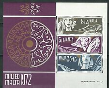Malta - Weihnachten Block 2 postfrisch 1972 Mi. 454-456
